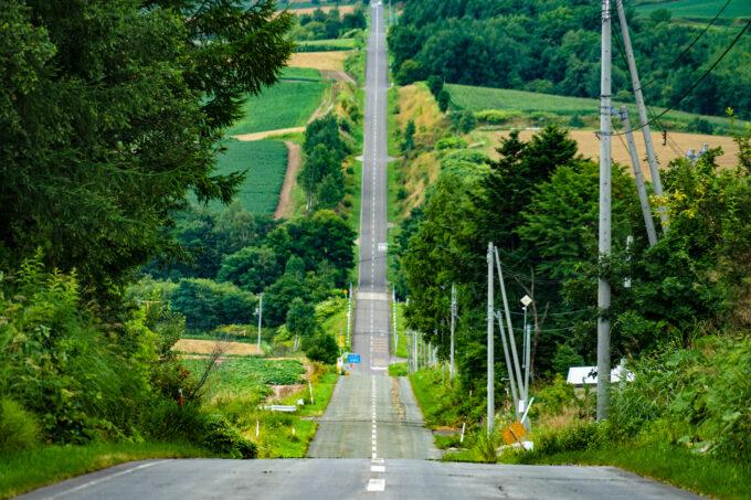 ジェットコースターの路(北海道富良野)