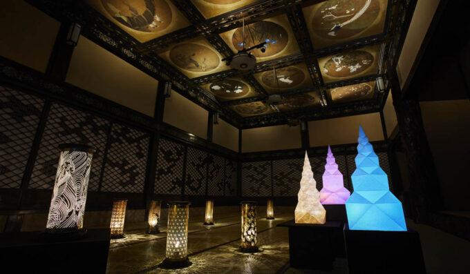 ホテル雅叙園の企画展(和のあかり×百段階段2021)