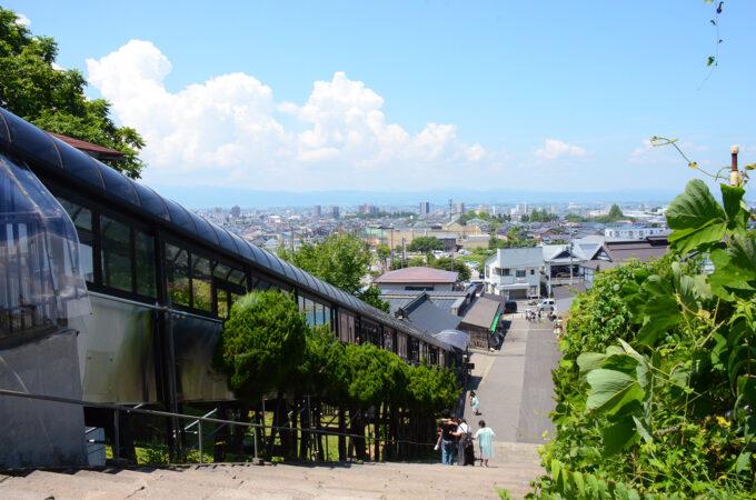 飯盛山からみた城下町